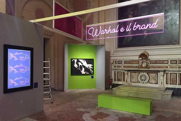 Insegne luminose per Mostra Andy Warhol